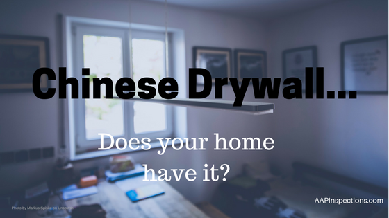 Chinese Drywall – Does Your Home Have It